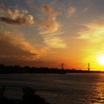 Rio-Antirrio bridge at sunset, photo Yiannis Kaouris